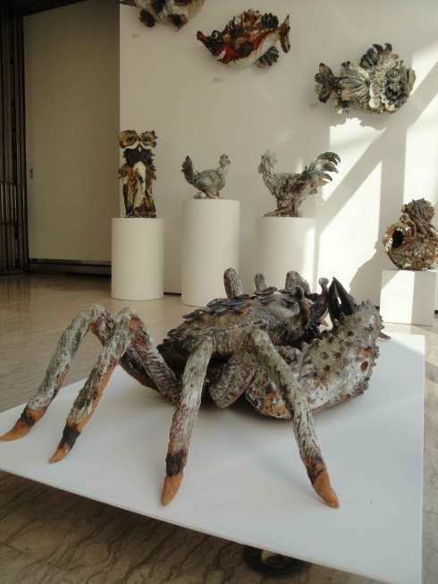 Sylvain Bongard sculptures in Arte Periferica